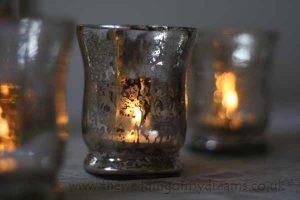 mercury silvered tea light holders