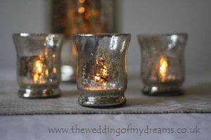 mercury silver tea light holders