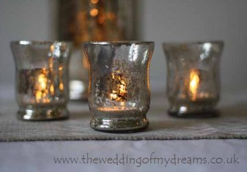 mercury silver tea light holders