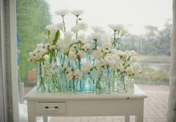 single stem bottles wedding table decorations