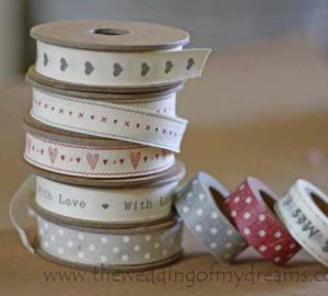 wedding ribbons