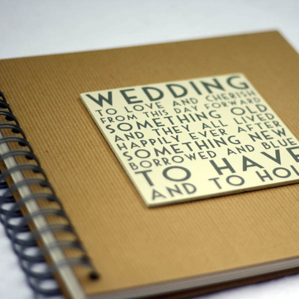 Collect All Your Ideas In A Wedding Scrap Book