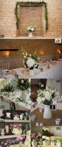 wedding table decorations jugs