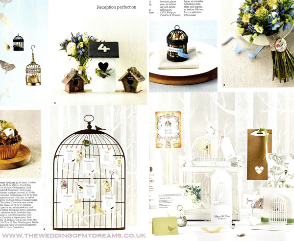 Birdcage wedding table plan