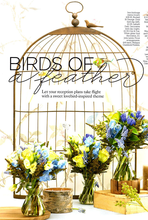 Birdcage Table Plan Memo Board You And Your Wedding Magazine The Classy Birdcage Memo Board