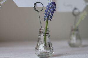 Bud Vase Name Card Holder