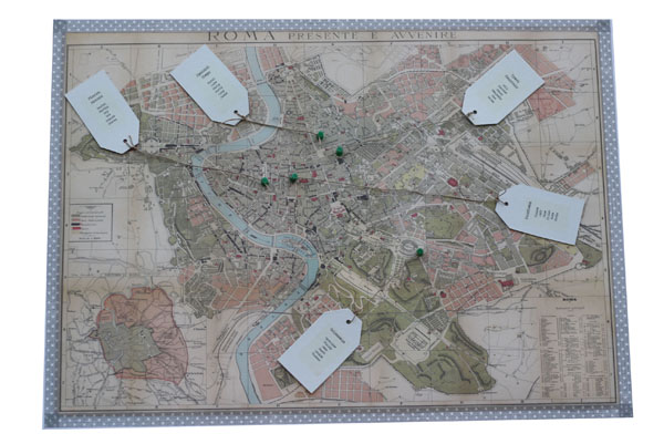 Rome Map Wedding table Plan