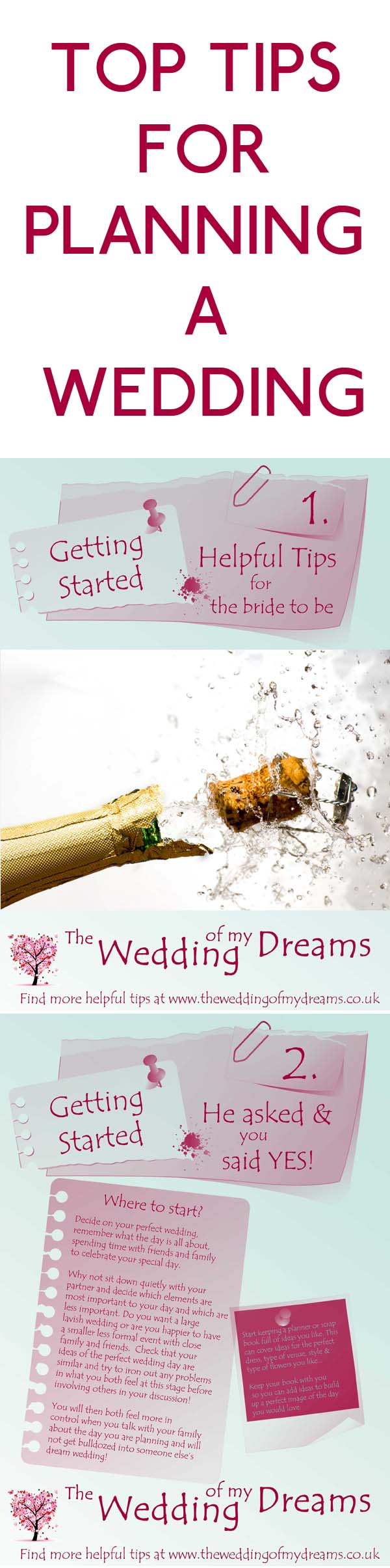 TOP TIPS FOR PLANNING A WEDDING