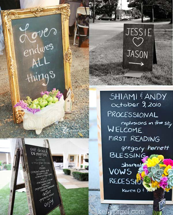 blackboard wedding decorations