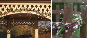 flower garland arch