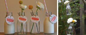 milk bottles wedding decorations
