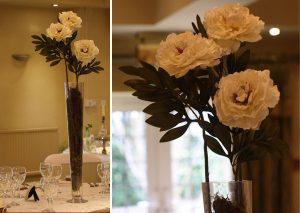peony wedding table decorations