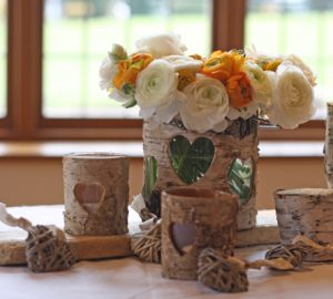 rustic bark wedding decorations