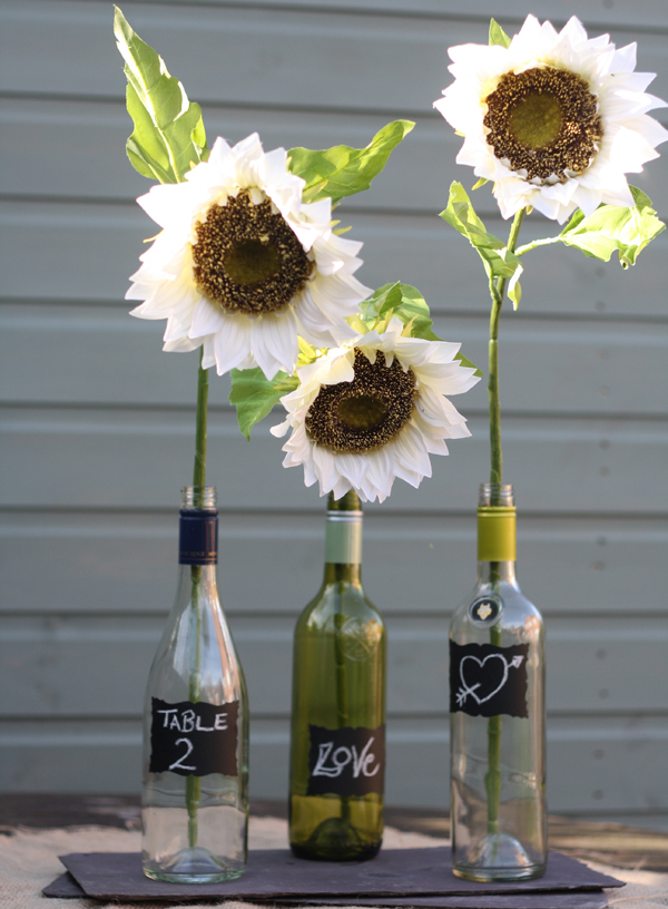 silk sunflowers wedding table decorations