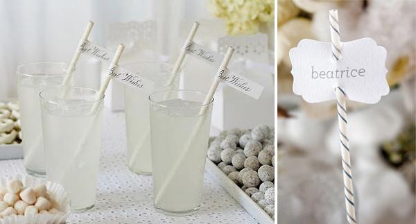 wedding paper straws