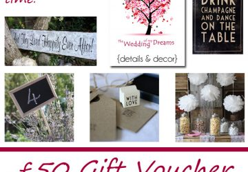 gift voucher giveaway at The wedding of my dreams
