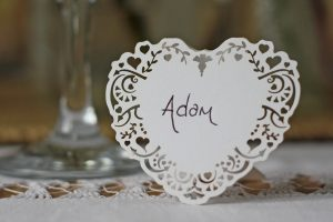 Lace Heart Name Cards