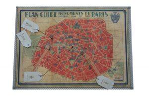 Paris Map Wedding Table Plan