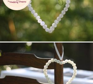 button hearts hanging wedding decorations