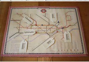 london underground map table plan DIY Tutorial