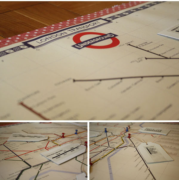 london underground map table plan DIY Tutorial