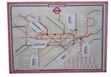 london underground map table plan