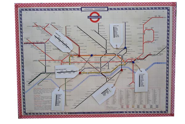 london underground map table plan