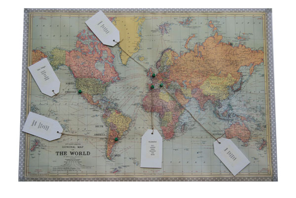 world map weddingtable plan
