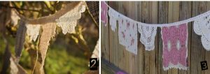 hessian and lace wedding bunting
