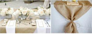 hessian burlap weddings