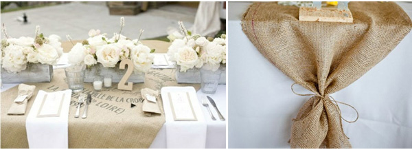hessian burlap weddings