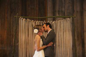hessian wedding backdrop