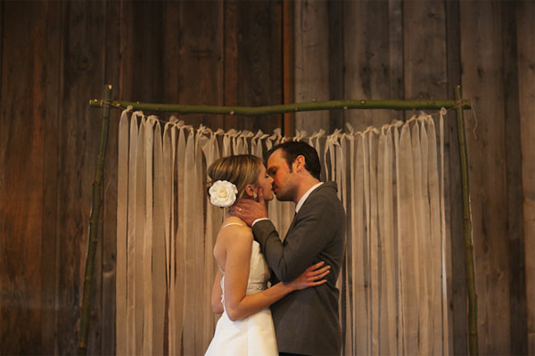 hessian wedding backdrop