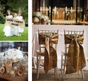 hessian wedding decorations