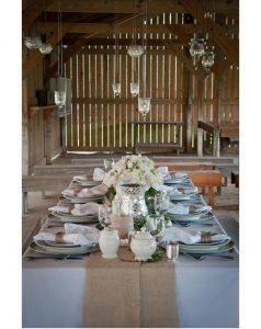 hessian wedding table runner