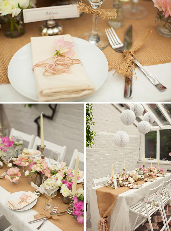 hessian wedding