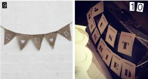 personalised hessian wedding bunting