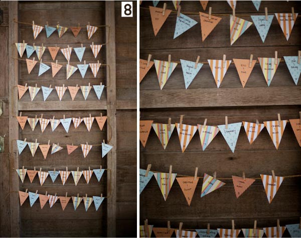 table plan wedding bunting