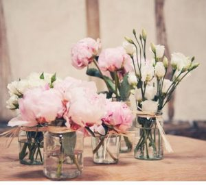 wedding jam jars table centres