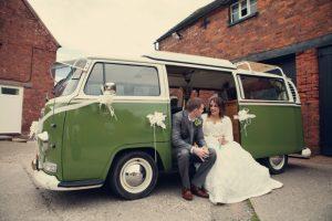 VW campervan wedding car