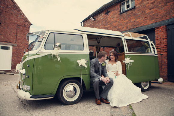 Rustic wedding decorations at packington moor farm lichfield vw campervan wedding car junglespirit Image collections