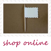 blank mini paper flags