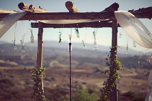 Hanging bottles wedding