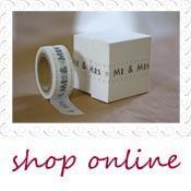 mr & mrs decorative tape