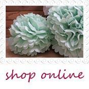 paper pom poms green