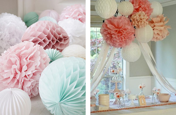 paper pom poms the wedding of my dreamsthe wedding of my dreams. Black Bedroom Furniture Sets. Home Design Ideas