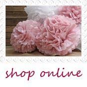 paper pom poms pink