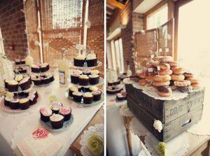 rustic wedding dessert table wooden crates