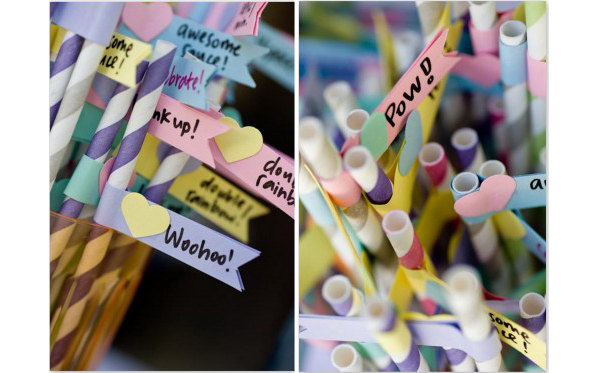 Wedding Paper Flags