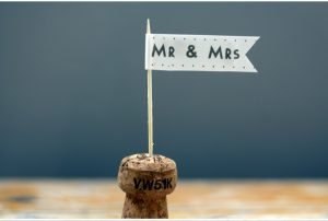 Wedding Paper Flags Mr & Mrs